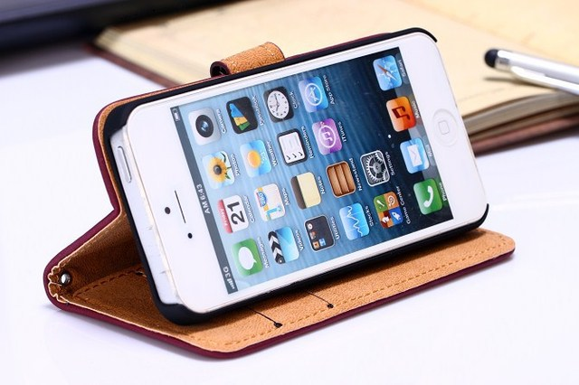 New Luxury Vintage Retro 100% Real Genuine Leather Case for iphone 5 5S 5G