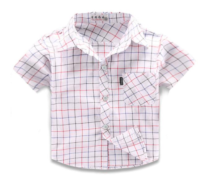 Boys' Checked Cotton Shirt