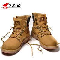 2019 jesień męskie buty z prawdziwej skóry buty do pracy buty do wędrówek górskich Retro kostki buty wysokiej jakości buty męskie 7 #15ND50