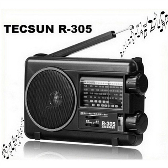Торгово-wholesal TECSUN R305 цифровое радио FM MW SW ТВ Полосы приемника r-305 Портативный Радиоприемник С Встроенный Диктор бесплатная доставка