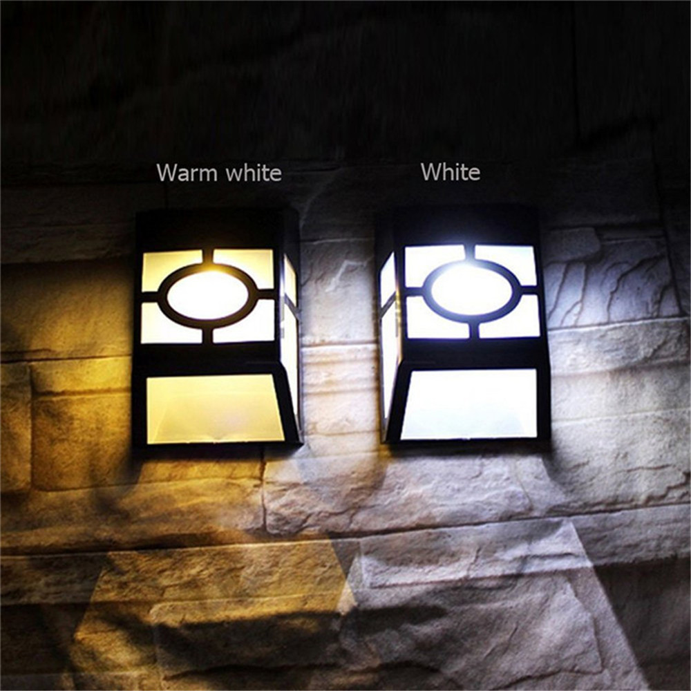 2Pack Waterproof IP55 LED Solar Light 2 LED Solar Lamp Outdoor Lighting Wall Lamp With Light Control For Home Garden Decoration