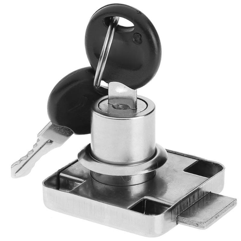 138c-22 Desk Drawer Lock Wardrobe Locks Cabinet Locks Furniture Cam Locks Cold Rolled Steel Zinc Alloy Cabinet Locker With 2 Key