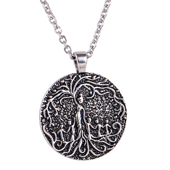 Women Necklace Mom&Several Children Necklace Family Tree of Life Necklace Disc Pendant Mom Kid Women Mothers Day necklace women tree of life mother and children