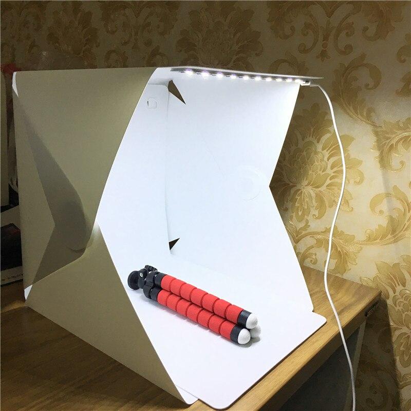 Mini Pliage Amovible Photo Boîte à Lumière Mini Photo Studio Boîte Abat-Jour Photographie Tente Toile Lightbox Softbox