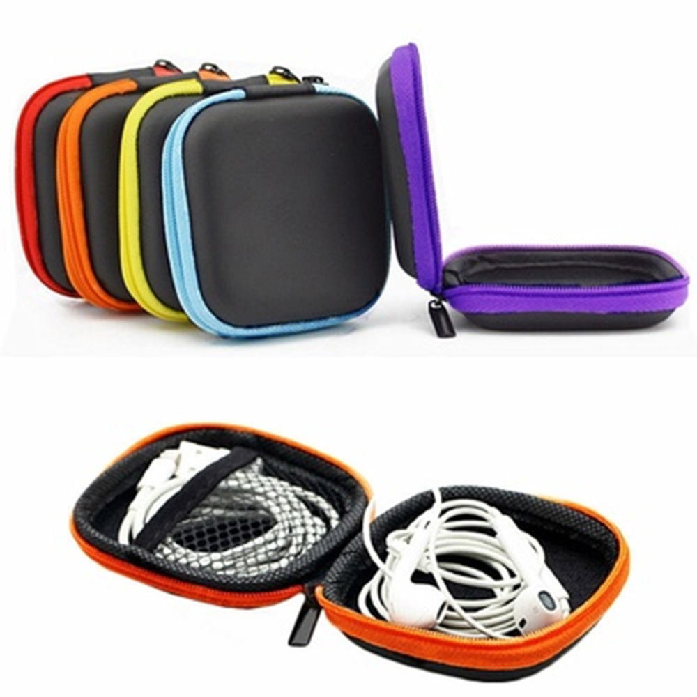 Fashion Mini Zipper Earphone Headphone SD Card Bag Storage Box Key Wallet Travel Accessories Packing Organizers(China)