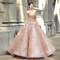 J66569 jancember quinceanera dresses 15 ball gown off the shoulder v neck floor length prom dress vestidos de quinceaneras 2019