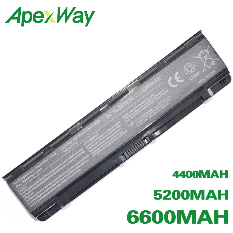 ApexWay 6 Cells Battery PA5023U-1BRS PA5024U-1BRS PA5025U-1BRS For Toshiba Satellite C50 C800 C805 C840 C845 C850 C855 C870 C875