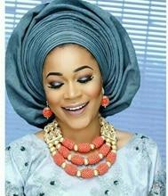 Mujeres Coral Perlas de La Boda Africana moda Collar Babero de La Joyería Plateada Oro Del Traje Nupcial Set Envío Libre Caliente CNR673