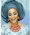 Moda Casamento Africano Mulheres Coral Beads Bib Conjunto de Jóias Banhado A Ouro do Traje de Noiva Colar de Definir O Transporte Livre Quente CNR673