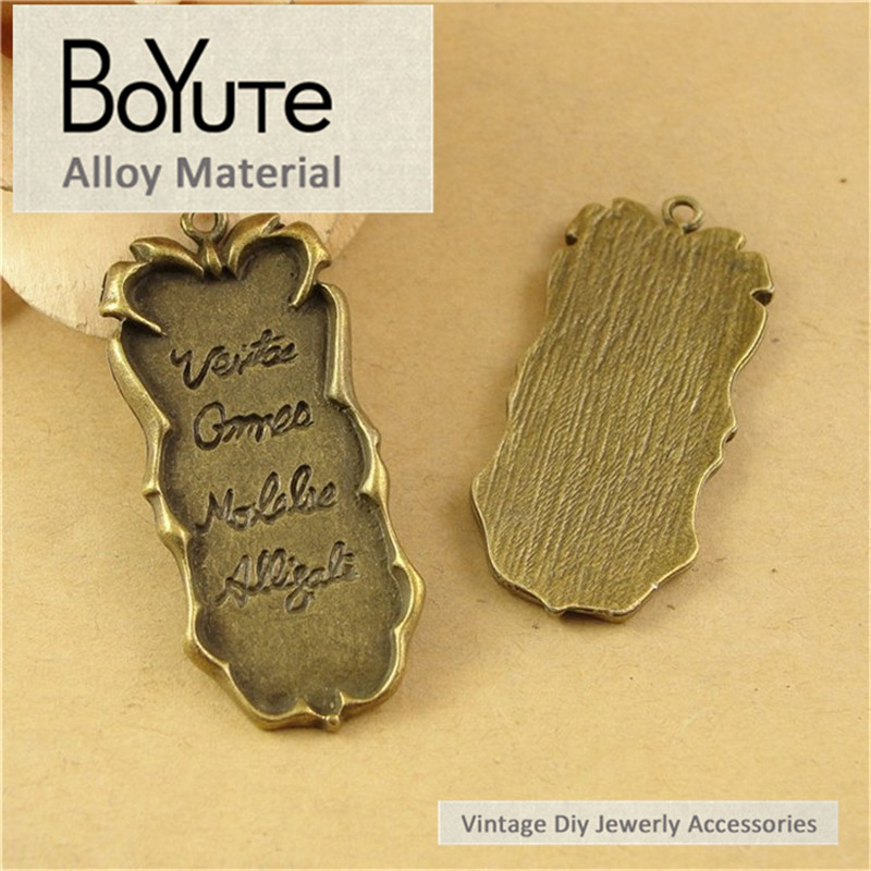 BoYuTe (40 Pieces/Lot) 20*44MM Antique Bronze Plated Metal Diy Word Charms Pendants Jewelry Findings