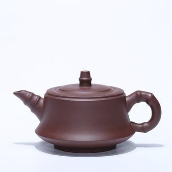 Yixing Purple Sand Pot Ore Mine Purple Mud Bamboo Joint Pot, Health Pot, Kungfu Teapot, Teaware Gift Wholesale