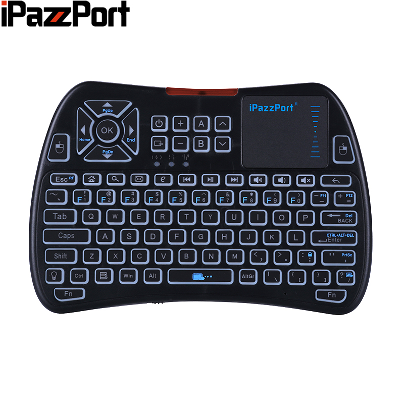 IPazzPort Wireless Keyboard KP-810-61 2.4GHz Mini Wireless Keyboard Air Mouse TouchPad For Smart TV Box Mecool KM3 TV Box