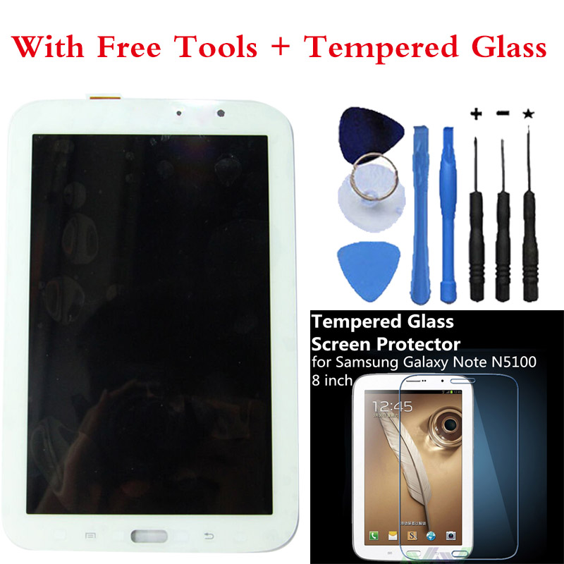 OEM LCD Display Touch Screen Digitizer Assembly For Samsung Galaxy Note 8.0 GT-N5110 N5110 WIFI version White +Free tools