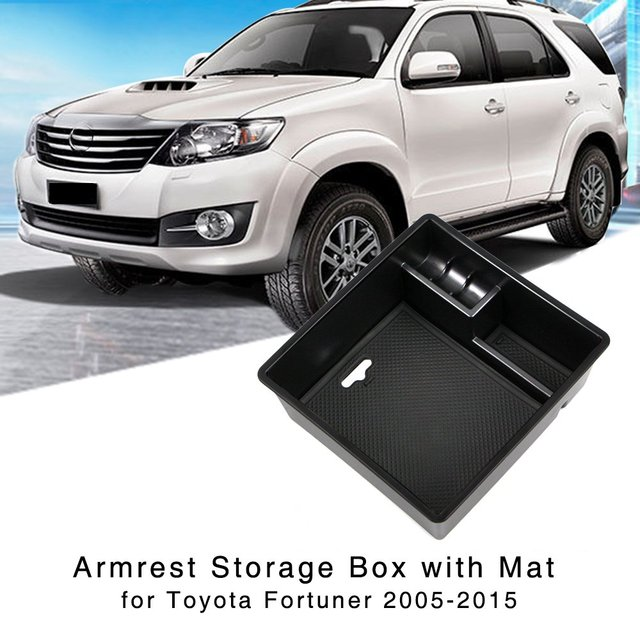 Armrest Storage Box for Toyota Fortuner 2005 2006 2007 2008 2009 2010 2011 2012 2013 2014 Central Console Glove Tray