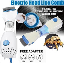 1pcs Electric Head Lice Comb Terminator Lice Comb Nit Free Kids Hair Rid Headlice Stainless Steel Metal Teeth Remove Nit Brush