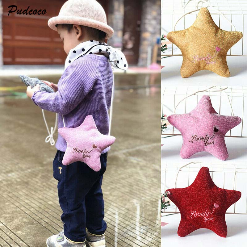 2019 Brand Kids Girls Boy Mini Messenger Bag Coin Purse Children Crossbody Bag Shoulder Bags Stars Shape Backpack Lovely Gifts