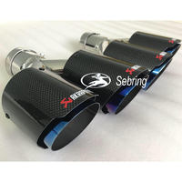 1 PC Car Modification AKRAPOVIC Universal Dual blue Automobile exhaust pipe Muffler tip for BMW 3 Series