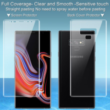 Imak 2pcs Clear Hydrogel Film 3th Gen for Samsung Galaxy Note9 3D Full Cover Screen Protector