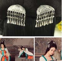 Vintage srebrny szpilka księżniczka włosów akcesoria księżniczka włosów produkty starożytnych chinach dynastii włosów kwiat