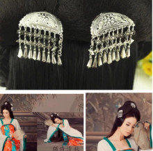 vintage silver hairpin princess hair accessories products ancient china dynasty flower