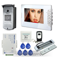 """Home Brand New 7"""" Color Screen Video DoorPhone Intercom System 1 Monitor + 1 RFID Access Camera + EM Magnetic Lock FREE SHIPPING"""