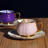 Bone China Tea Cup And Saucer tea Sets Drinkware Sets Coffee pack of 2