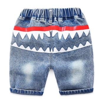 2019 nowych dzieci chłopców spodenki jeansowe letnia odzież niemowlęca chłopców dżinsy szorty dla chłopców 2-8 lat tanie i dobre opinie Na co dzień Pasuje prawda na wymiar weź swój normalny rozmiar kz281 Elastyczny pas Chłopcy Wysoka Cartoon Proste Distrressed