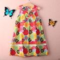 Summer Baby Girls Toddler Kid's Girls Dress O-Neck Sleeveless Floral A-Line Tutu Dress Wholesale