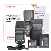 Godox Ving V860II-F Speedlite Li-ion Battery Flash Fast HSS For Fuji Fujifilm Camera X-Pro2 X-T20 X-T1 X-T2 X-Pro1 X100F Camera цена