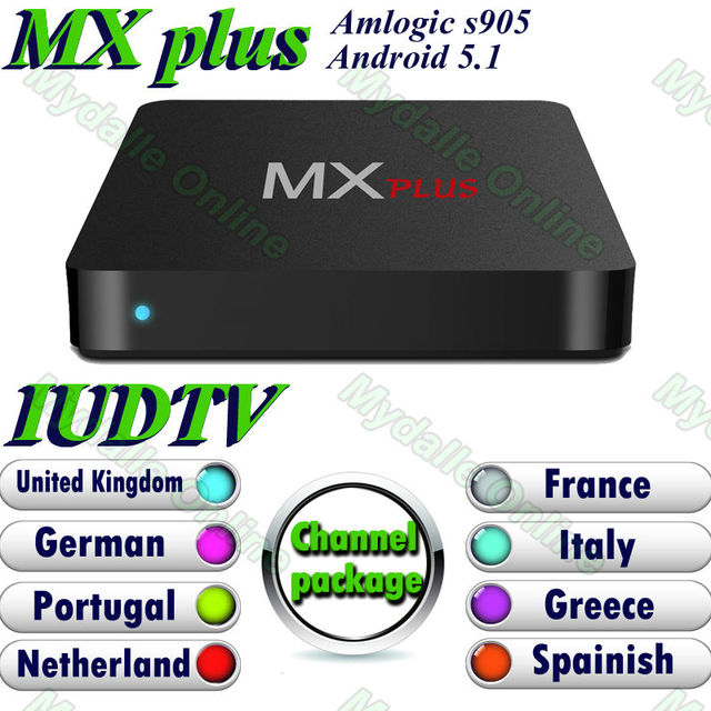 Live TV IPTV IUDTV 1 Year Account Sell with Smart Android 5.1 Tv Box MX plus S905 including 900+ europe channels sky italy UK DE
