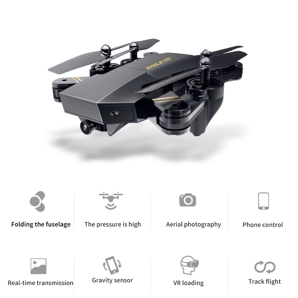 RC Drone Wifi FPV Fixed 480P/720P High HD Camera Stable Gimbal Headless Mode Foldable Quadcopter