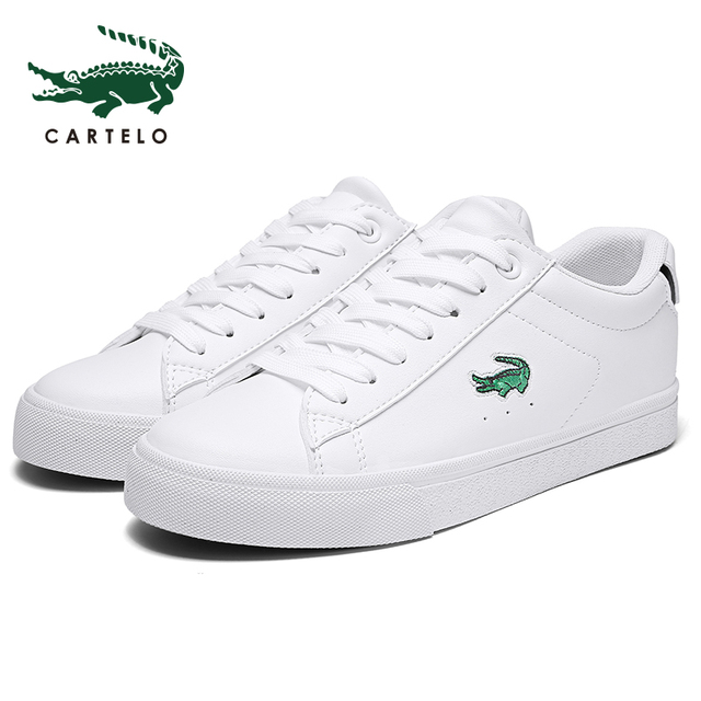 CARTELO women's shoes casual white shoes for men and women simple tie Korean version of the thick-bottom sports students low to 1