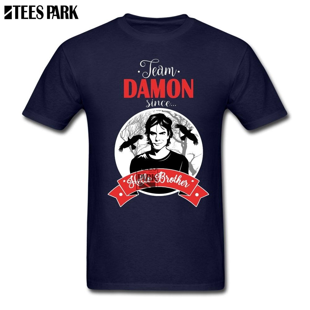 d18588e85 Hot T Shirt Plus Size Team Damon The Vampires Diaries Funny Tee Shirts Men  Cotton Bodybuilding Tshirt High Quality Man Fun-in T-Shirts from Men's  Clothing ...