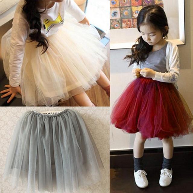 ec186903e0 2016 Nuevo estilo de verano hermoso peluche de suave tul tutú de las  muchachas la falda