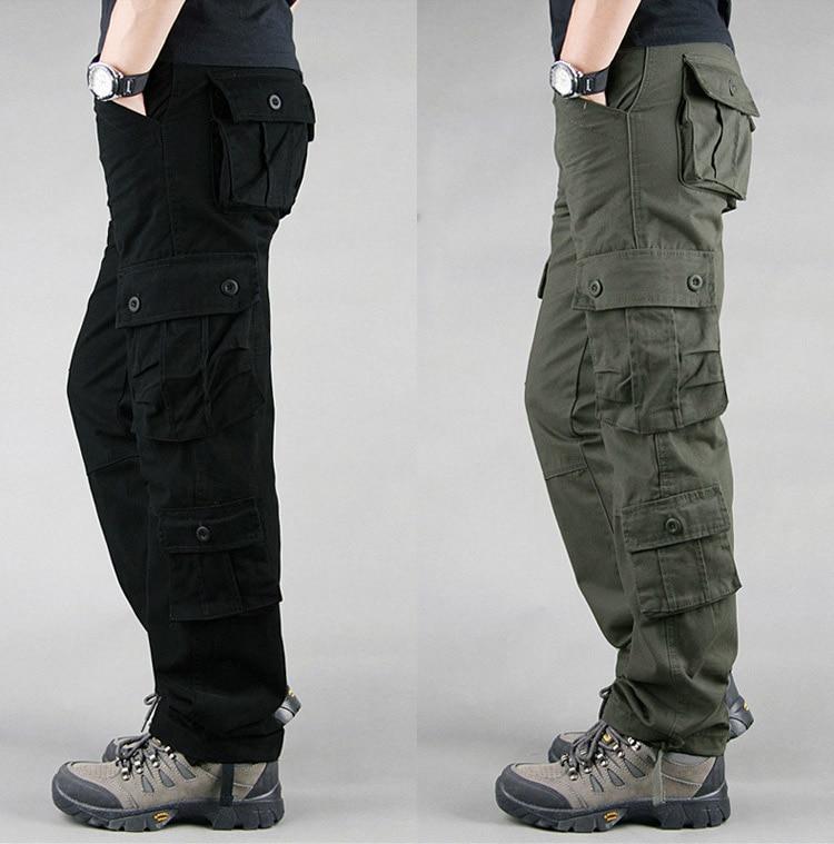 19 Spring Winter Military Pants Men Khaki Cargo trousers Casual Cotton Tactical Pants Men Big Size Army Overol Hombre 6