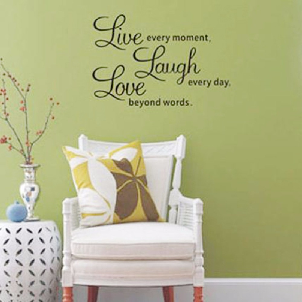 Hot Selling Live Laugh Love Wall Decals Quotes Paper Butterfly ...