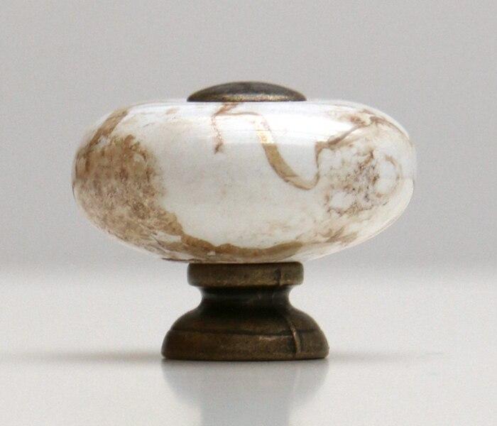 26mm Vintage Runde Marbleized Keramikfachdrehknöpfe Küchenschrank ...