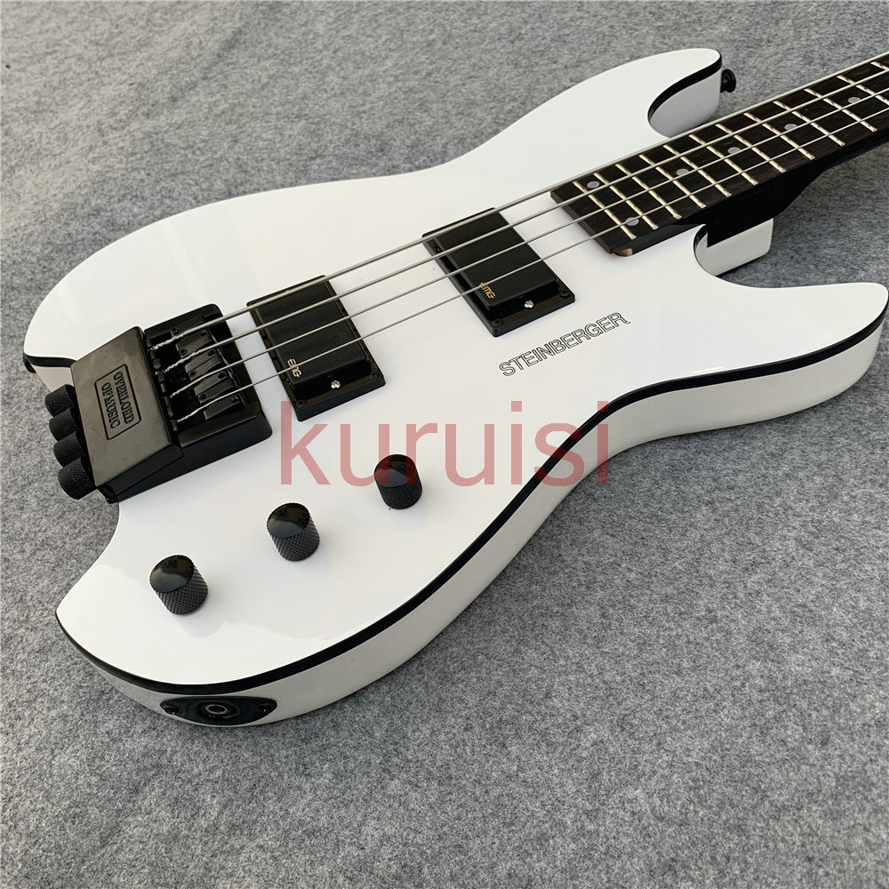 Steinberg electric guitar headless white Bass Guitar, white black accessories Bass Guitar. Beautifully crafted Bass Guitar. image