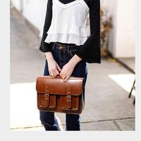 New Fashion Retro Women shoulder Bag female handbags leather laptop Bags Lady Business Computer Briefcase school messenger bag