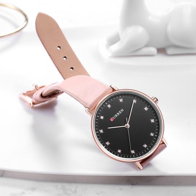 CURREN Fashion Womens Simple Diamond Elegant Ladies Wrist Watch  4