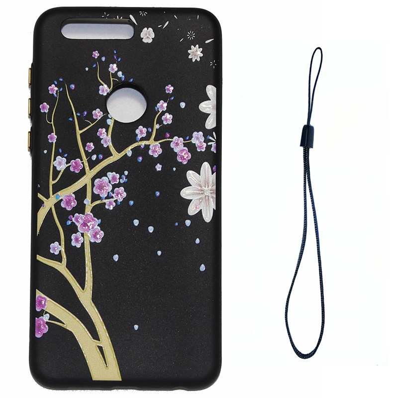 3D Relief flower silicone case huawei honor 8 (10)