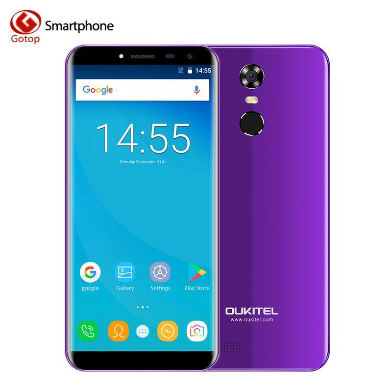 Oukitel C8 4g MT6737 Quad Core Smartphone Android 7.0 18:9 Infinity Affichage Mobile Téléphone 2 gb RAM 16 gb ROM Cellulaires D'empreintes Digitales Téléphone