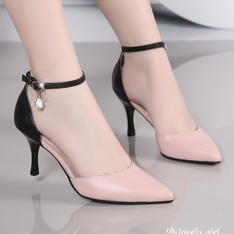 NEW 2016 Women S High Heels Sexy Style Spell Color And Pointed Toe Women Pumps Hot
