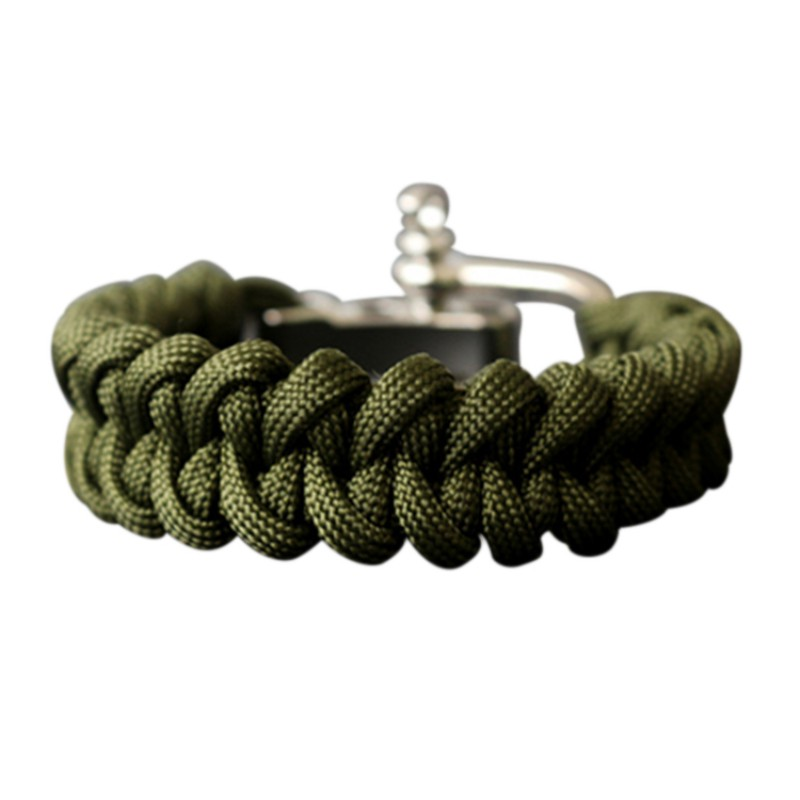 Outdoor Camping Hiking Rescue Paracord Bracelets Parachute Cord Men & Women Emergency Rope Black Survival Stainless Buckles New
