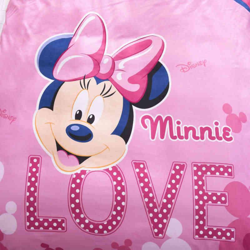 Pink minnie mouse beddsing disney cartoon girls duvet cover kids children home decor twin single queen size 3pcs bed sheet gift