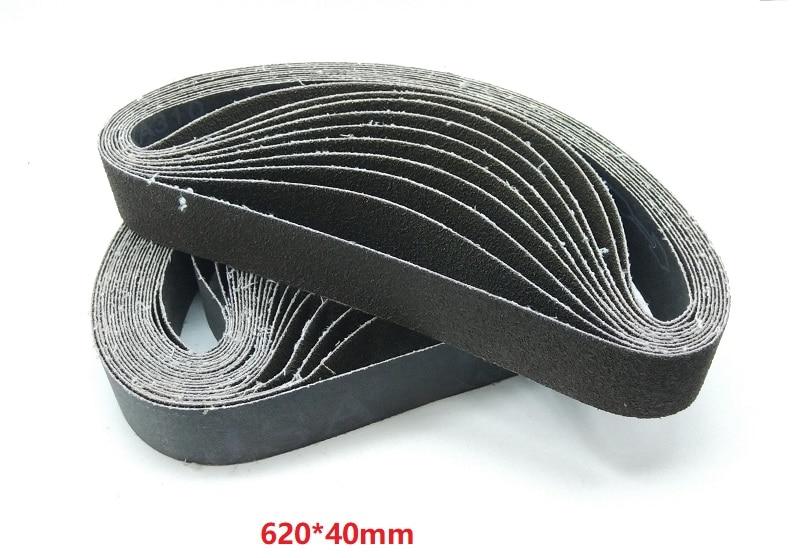 New 10pcs 620*40mm Abrasive Sanding Belt On Metal Belt Grinder For Polishing
