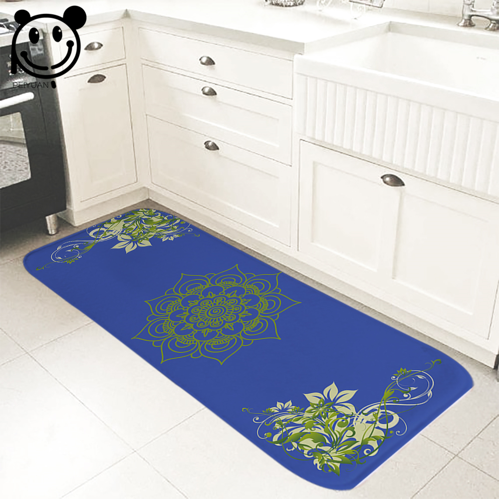 PEIYUAN Welcome Indoor Doormat Print Green Flowers Yoga Mat Door Mat Floor  Mat Rug Carpet For Bedroom