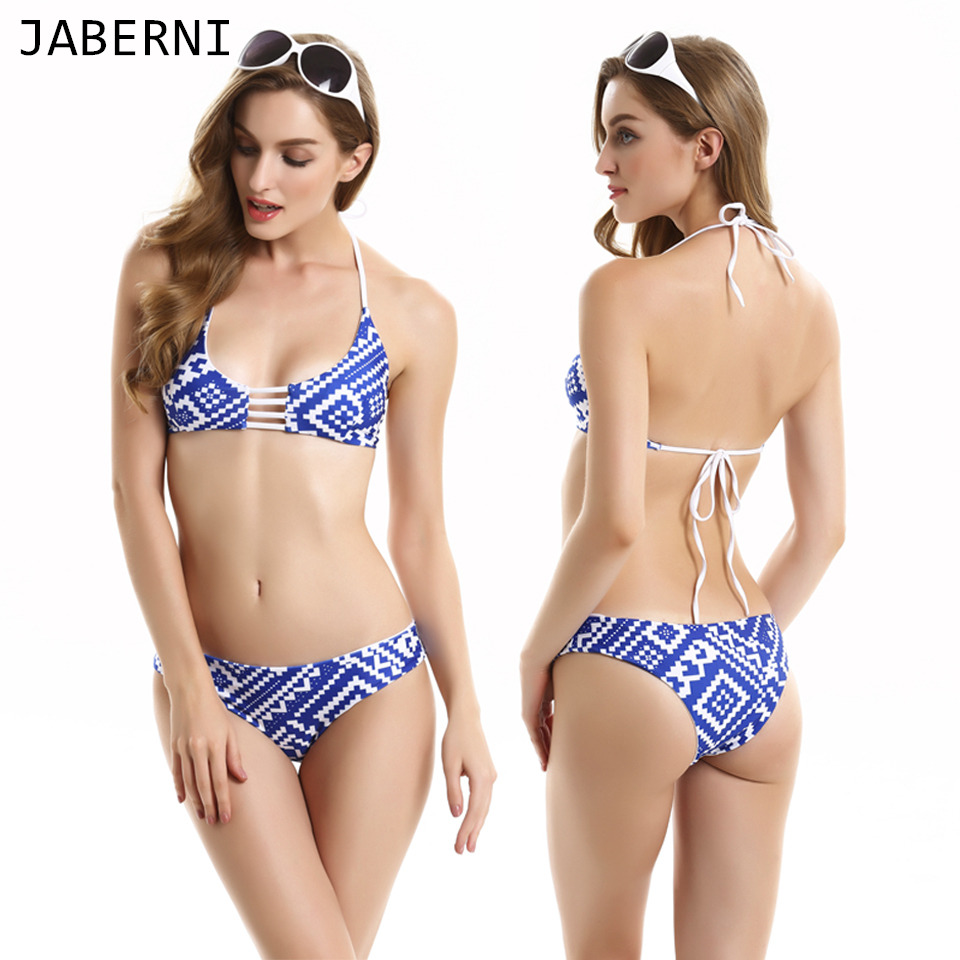ФОТО JABERNI 2017 bikini push up Bikini Set low waist two piece sexy ladys Swimwear Bathing Suit maillot de bain Biquini