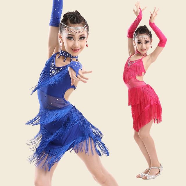 9d95a1f62 Special Sale Sexy Latin Dance Dress For Girls Kids Children Fringe  Competition Latin Skirt Salsa Samba Dance Latin Salsa Dresses