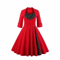 2016 Amazon Hot Heiben Wind Autumn And Winter Women S New Retro Features Long Sleeved Dress